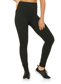 Solid Knit Leggings - 7069041451120