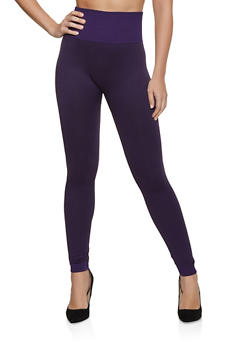 Solid Popcorn Waist Leggings - 7069041452553