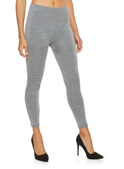 Marled Popcorn Waist Leggings | Heather - 7069041453332