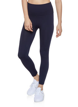 Popcorn Waist Leggings | Navy - 7069041453333