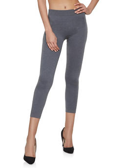French Terry Lined Leggings | Charcoal - 7069041456663