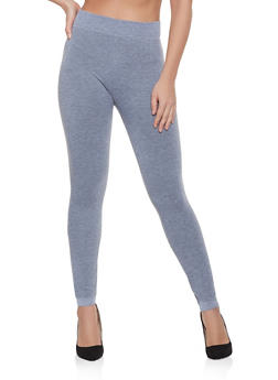 French Terry Lined Leggings | Heather - 7069041456664