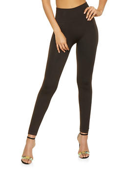 Textured Knit Leggings - 7069041457772