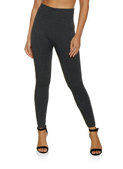 Basic Fleece Lined Leggings - 7069059160088