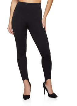 Fleece Lined Stirrup Leggings - 7069059160838