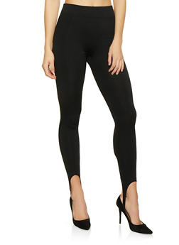 Fleece Lined Stirrup Leggings - 7069059161258