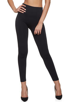 Fleece Lined Jacquard Leggings - 7069059162682