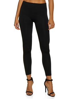 Fleece Lined Solid Leggings - 7069059162840
