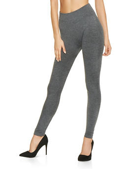 French Terry Lined Leggings - 7069059162868