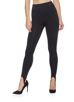 Solid Stirrup Leggings - 7069059163838