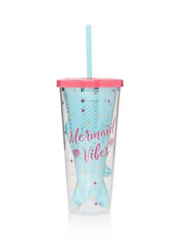 Mermaid Vibes Plastic Tumbler - 7130024901233