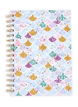 Glitter Mermaid Scale Spiral Notebook - 7130024901523