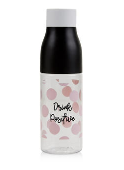 Drink Positive Polka Dot Water Bottle - 7130024902637