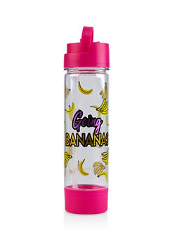 Going Bananas Flip Straw Water Bottle - 7130024903204