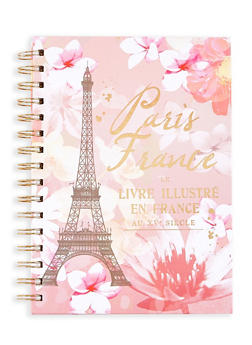 Paris France Graphic Spiral Notebook - 7130024906643