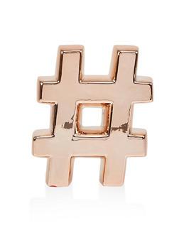 Hashtag Metallic Table Decor - 7130048705786