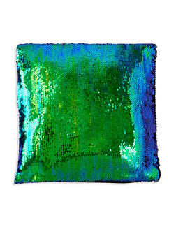 Reversible Sequin Square Pillowcase - GREEN - 7130067448036