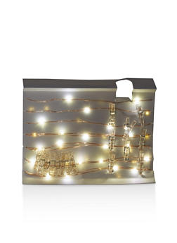 Glitter Clothes Pin String Lights - 7130068063366