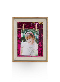 Reversible Sequin Clothes Pin Picture Frame - 7130074171414
