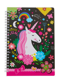 Unicorn Spiral Notebook - BLACK - 7130074172323