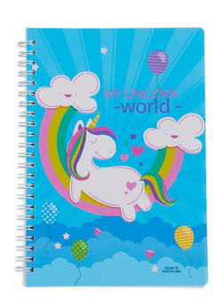 Unicorn Spiral Notebook - BLUE - 7130074172323