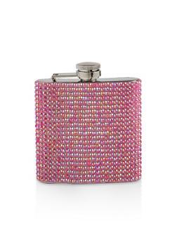 Rhinestone Flask - PINK - 7130074172602