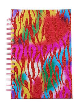 Glitter Flame Spiral Notebook - 7130074172620