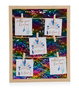 Reversible Sequin Clothes Pin Picture Frame - 7130074175252