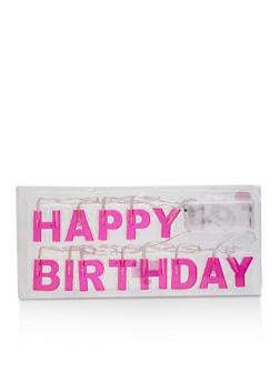 Happy Birthday LED String Lights - WHITE - 7130074176207