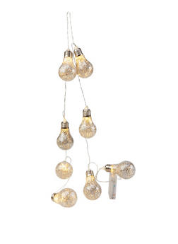 Glitter Light Bulb String Light - SILVER - 7130074751501
