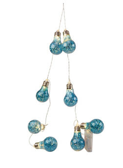 Glitter Light Bulb String Light - BLUE - 7130074751501