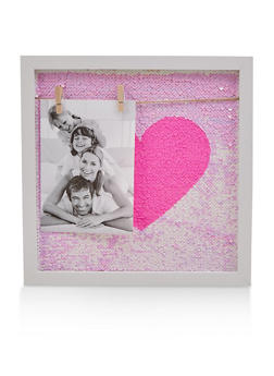 Reversible Sequin Heart Wall Art - 7130074752308