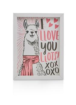 I Llove You Llots Llama Wall Art - 7130074757068