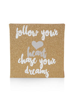 Glitter Chase Your Dreams Wall Art - 7130074991010