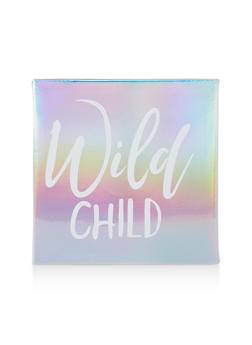Wild Child Iridescent Faux Leather Wall Art - 7130074991011