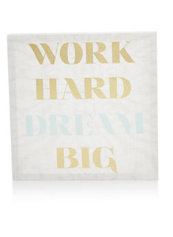Work Hard Dream Big Canvas Wall Art - 7130074994212