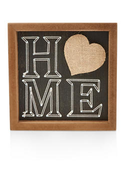 Home Wooden Box Sign - 7130074994502