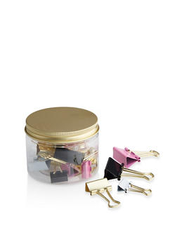 Assorted Binder Clips Jar - 7132024902399