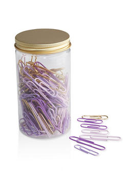 Assorted Paper Clips Jar - 7132024902400