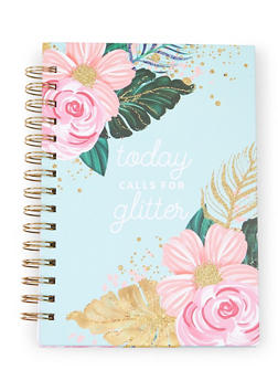 Today Calls For Glitter Spiral Notebook - 7132024903862