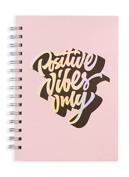 Positive Vibes Only Spiral Notebook - 7132024905381