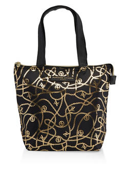 Adrienne Vittadini Chain Link Lunch Tote - 7132024906474