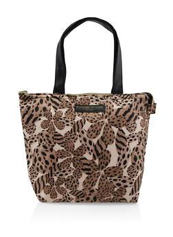 Adrienne Vittadini Cheetah Floral Lunch Tote - 7132024906574