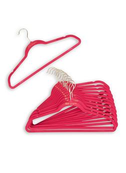 Set of 12 Ultra Slim Hangers | Pink - 7132048704513