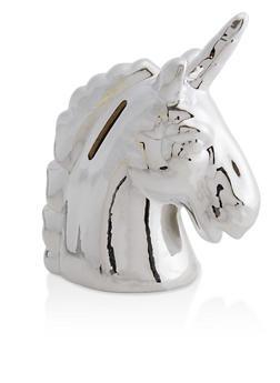 Metallic Unicorn Coin Bank - 7132048705540