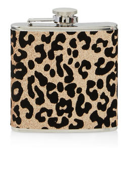 Glitter Leopard Flask - 7134062927236