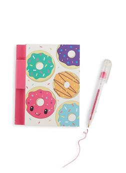 Scented Donut Graphic Notepad and Glitter Gel Pen - 7134075525000