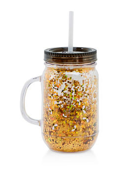 Eat Drink and Bee Happy Tumbler with Straw - 7135024900142