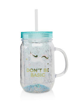 Confetti Waterfall Dont Be Basic Tumbler - 7135024900579