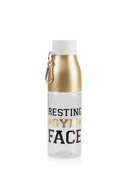 Resting Gym Face Water Bottle - 7135024901232